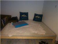 松木,日式实木床,1.8*2.0 带床垫...
