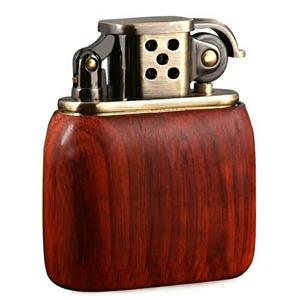 老九门款打火机……纯铜机芯,红木外壳