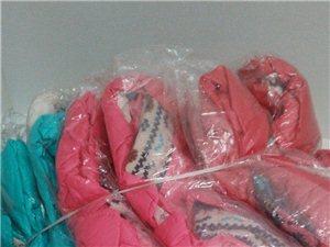 出售女宝棉服,羽绒服,全新,因生意不好做...