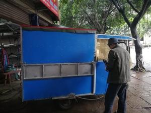 因外出,出售一套流动小吃电动三轮车,家具齐全,不锈钢表面,可以马上营业,需用者请联系。