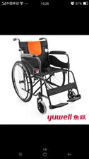今年十月份腿骨折受伤599元买了个鱼跃H050C轮椅,现闲置在家,欲低价出售!95成新