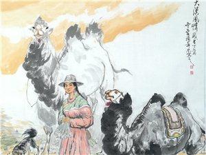 汤希忠国画骆驼作品欣赏!