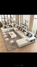 全新可拆洗布艺沙发,新到货,送茶几电视柜。