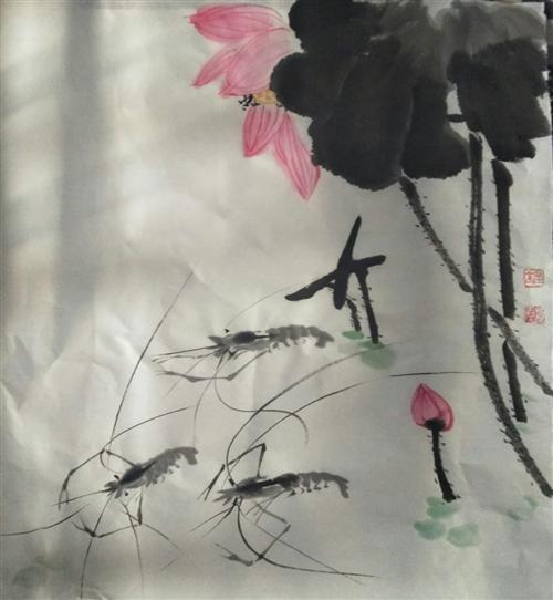 国画写意花鸟画,50×50厘米,可批发,可定制,价格面议