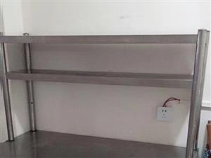 1.2*0.6*0.8米不锈钢双通打荷,下面柜子可以两边开门,台面可做操作台,上面架子是三层。适合家...