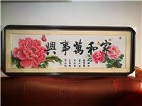 妈妈纯手工十字绣,新品,现888元出售,已裱框,长1.43米,宽0.54米,仅此一件,有意者可以联系...