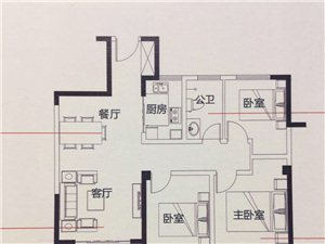 银河庄园3室2厅1卫63万元