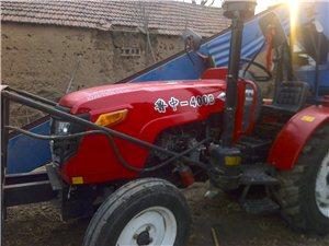 鲁中400拖拉机带玉米脱粒机,在家打了几天玉米,因为上班,没时间开,处理掉