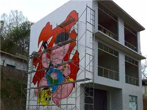 墙绘3D壁画油画,内墙质保三年,外墙一年,美丽无忧