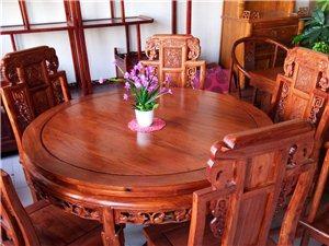 老榆木圓餐桌批發價格4200