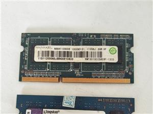 笔记本内存条,DDR3/2G,一根金士顿,一根记忆,打包出售。