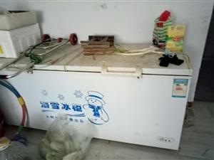 转让二手冰柜一个,货架子一个价格面议