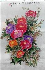 梅兰竹菊四条屏,横幅牡丹,花鸟等。