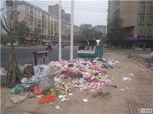 安置二街人寿保险对面,垃圾成垃无人处理!