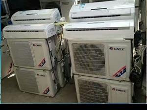 长期出售二手品牌空调,价格便宜,有一年保修卡!