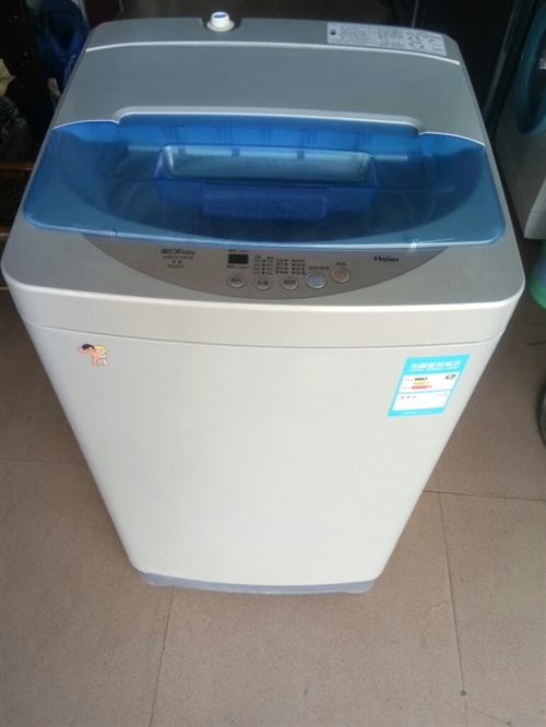 海尔7公斤全自动洗衣机,九成新,有保修卡!