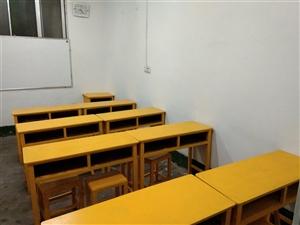 出租教室,整洁美观,环境好,桌凳齐全。可用作书法、绘画、音乐、小学文化课辅导等。地址西门口往西500...