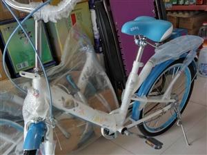 閑置自行車,全新的,兩輛,圖片上的是剛組裝完成的,和共享單車一樣大,車身藍色,輻條七彩色,絢麗時尚,...