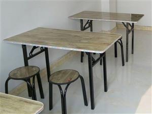 低价处理桌椅,桌子15张椅子20把,尺寸120*60*75,80一套桌椅,1200全部带走。