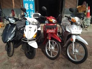 全新力帆摩托中国名牌,力帆的两个一个弯梁110红色,一个白色踏板125,还有一辆吉利踏板125黑色摩...