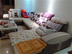 刚买的布沙发九成新 由于想换皮沙发 有需要的请联系15378407190