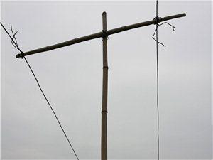 一根竹竿撑起的用电安全