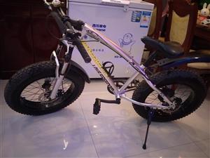 九成新山地大轮胎变速自行车只卖300 电话13756394198