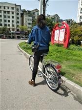 凤凰牌自行车,四月二十号买的,就骑了一次,买的四百二十元,九成九新。