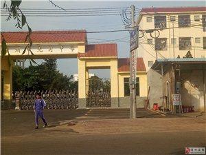 光村中学加油站,内墙在校园内