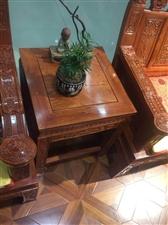 非洲花梨六件套吉祥如意红木沙发便宜出售!联系电话13399229044地址高石崖