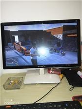 二手游戏电脑.显示器24 .耳机键盘鼠标摄像头全有,1G独显,主盘固态64G.副盘2T。可以运行当下...