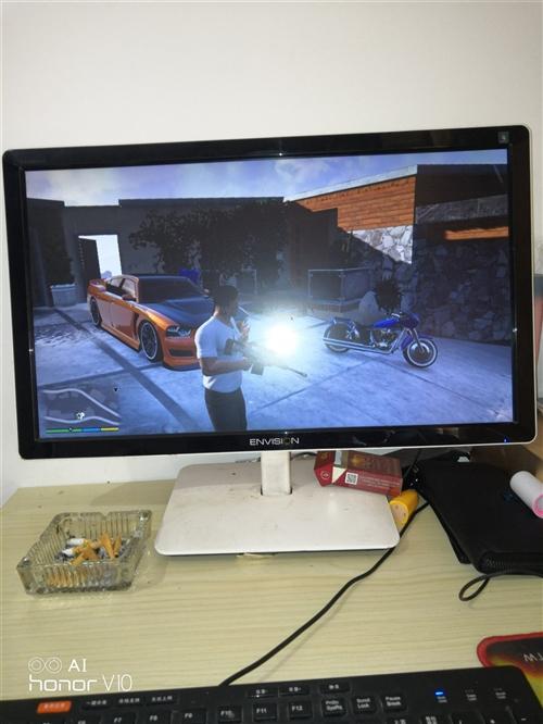二手游戲電腦.顯示器24 .耳機鍵盤鼠標攝像頭全有,1G獨顯,主盤固態64G.副盤2T。可以運行當下...