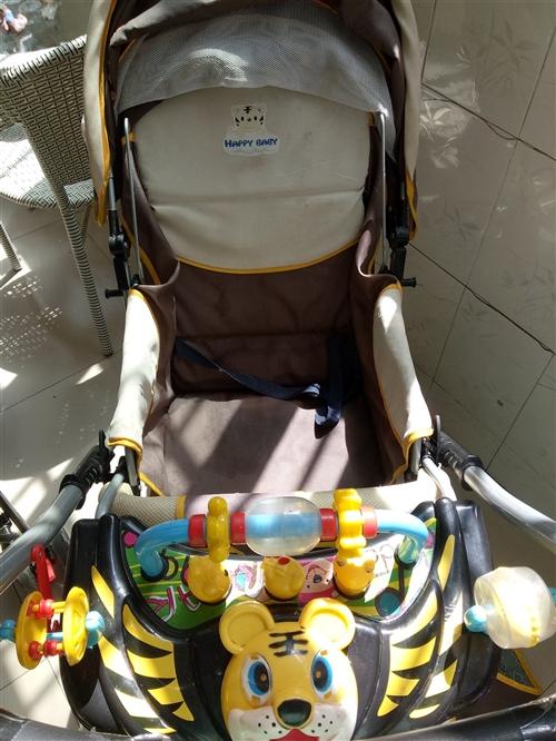 转让二手儿童车,原价600多,现120就卖,8成新!车头的玩具老虎响铃也好着了。