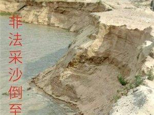 儋州海头太平一砂场(无证)非法采砂