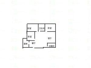 翰林世家袁山公园铂铭翰3室2厅1卫63.8万元