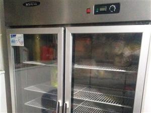 全不锈钢双开门冷藏展示柜