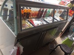 鸭脖展示柜,180,60,120,使用一个月不到,白色智能,双温展示冷藏柜,大理石制作,有售后和使用...