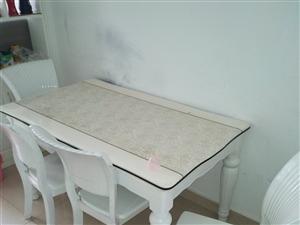 一年多的新餐桌加六个座椅:因家里换购新家具所以要卖掉:有意向的可以联系中介勿扰:临泉城南公园南500...