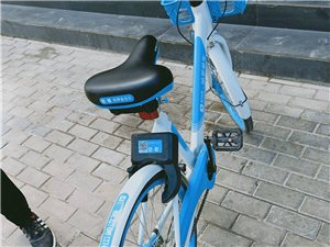 看看,共享单车哦,这是酒泉的共享单车