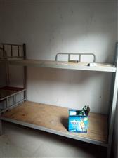 工地工人用的上下铺铁架床,8成新