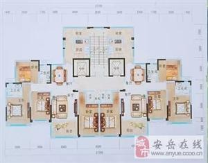 安岳首例两梯两户板式楼房、超宽楼间距、南北通透、三面采光、商政中心、出行便捷、学区房地段