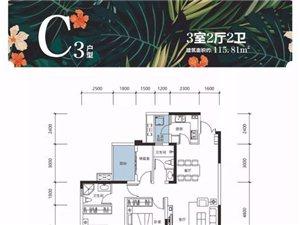 世纪城3室2厅2卫52万元