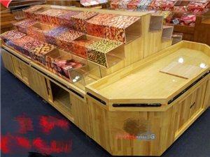 超市零食货,实木材质, 10个小柜组合而成,可单独小柜出售 钢化玻璃盒