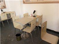 八成新奶茶早餐桌椅出售,夜宵加厚塑料椅子出售,电话13320174005