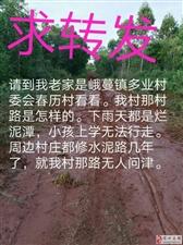 峨蔓镇春历村村路附近邻村村路都是硬化路如今春历村村路仍然还是泥路下雨天积水小孩无法上学