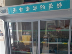 双机双温点菜冷藏柜。才买不到两个月,店要装修用不上了。带led点光源。
