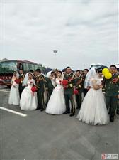 长城见证,情系国防集体婚礼