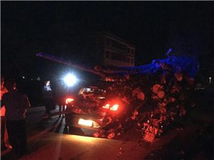 昨晚武阳毛坪发生一起车祸