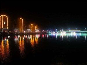 秒速飞艇的晚霞与夜景