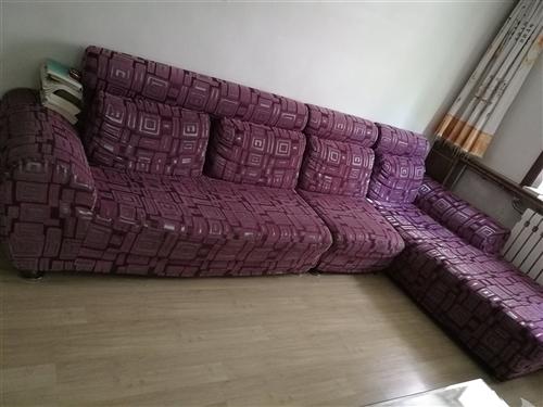 雙人十單人十貴妃床,長3.3米,貴妃床長1.8米,沙發套可換。